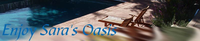 Sara's Oasis in Sonoma County California. A lovely, tranquil place to vacation or get away.